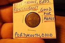 KADEMENOS BROS. RESTAURANT GOOD FOR 1 MEAL FREE SHIPPING PORTSMOUTH, OHIO