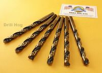 "Drill Hog USA 5/16"" Drill Bit 5/16 HI-Molybdenum M7 Lifetime Warranty 6 Pack"