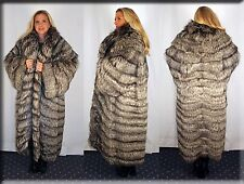 New Skin on Skin Silver Fox Fur Coat Size 2XL 2 Extra Large 16 18 Efurs4less