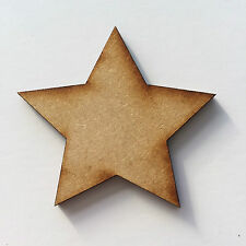 Wooden MDF Shapes Hearts Stars Butterfly Tree Craft Embellishments Decoration Dog Paws 20mm 5