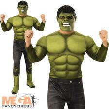 Deluxe Hulk Mens Fancy Dress Avengers Endgame Adult Superhero Comic Book Costume