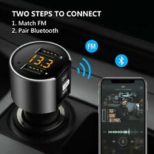 Wireless Bluetooth Car FM Transmitter MP3 Player Radio 2 USB Charger Hands Free