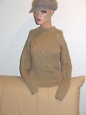 magnifique pull laine à torsade tricoté main avec PHILDAR taille 36 comme neuf