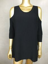 SEED TOP CUT OUT SHOULDER TOP BLACK TANK  BLOUSE SHIRT - SMALL