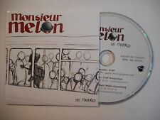 MONSIEUR MELON : LE METRO ▓ CD SINGLE PORT GRATUIT ▓