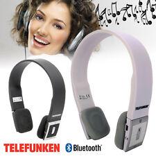 Cuffie Stereo Auricolari Bluetooth Per Smartphone Con Auricolare Telefunken