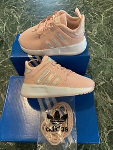 adidas X_PLR_INF F97184 Ice Pink Sz 6k baby girls Shoes NWB