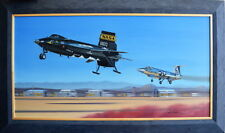 First Re-Entry - Original Oil on Canvas - by Mike Machat - X-15 - Joe Engle