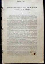 Queensland Coal Report. 1899