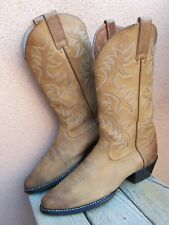 ARIAT Mens Cowboy Boot Western Riding Tan Brown Nubuck Leather Size 9.5D Comfort