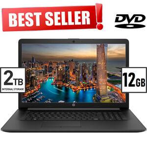 """NEW! 12GB HP 17.3"""" HD+ Laptop AMD Athlon Silver 3.20GHz 2.0TB HDD DVD+RW Win 10"""