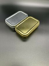 More details for tobacco tin silver and gold 25g baccy box high quality 1oz