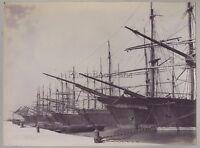Croatie Croatia ? Dalmatie Voiliers Photo Vintage citrate ca 1890