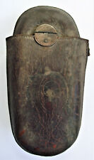 ANTIQUE COLUMBIA HIGH WHEEL BICYCLE LEATHER TOOL KIT SADDLE BAG BIKE POUCH Vtg