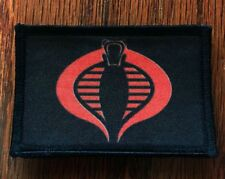 Gi Joe Cobra Logo Morale Patch Tactical Military Usa Hook Badge Army Flag