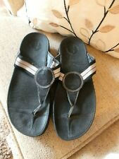FLIPFLOP BLACK GET A WORK OUT WHILE YOU WALK SHOES SIZE 6