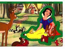 Disney Character Snow White & Animals Adhesive Sticker Unusual Novelty Postcard