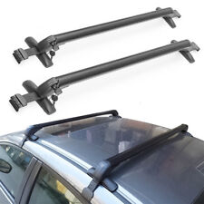 2pcs Car Top Silver Aluminum Alloy Cross Bar Roof Cargo Luggage Rack Force 150kg