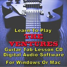 VENTURES Guitar Tab Lesson CD Software - 40 Songs