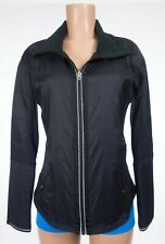 LULULEMON Run Bundle Up Jacket Black No Hood Goose Down Quilted Fleece
