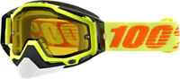 100% Snow Snowmobile RACECRAFT Goggles (Flo Yellow w/Anti-Fog 50103-026-02