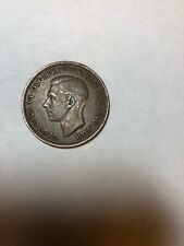 1945 Uk Great Britain British One 1 Penny King George Vi Coin Km 845
