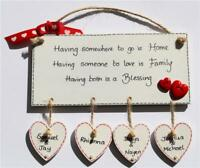 Personalised House Warming Gift Home Sweet Home Plaque Christmas Day Mum Family