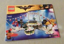 LEGO BATMAN MOVIE Manual Only-NEW-from set-#70919 Justice League Anniv. Party