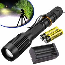 Military 15000LM Police LED Flashlight 5Modes T6 Light Torch Lamp +18650+Charger