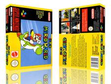 Super Mario World SNES Replacement Game Case Box + Cover Artwork Art (No Game)