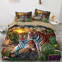 3D Tiger Sunset ZHUA3566 Bed Pillowcases Quilt Duvet Cover Set Queen King Zoe