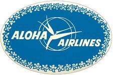 Aloha  Airlines   Hawaii  1950's  Vintage-Looking Travel Sticker / Luggage Label