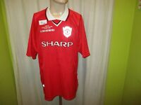"Manchester United umbro Champions League Sieger Trikot 1999 ""SHARP"" Gr.XXL TOP"