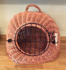 TRIXIE WICKER CAT BASKET PET CARRIER SMALL DOG