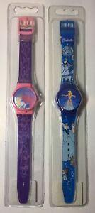 Vintage Lot Of Two . Walt Disney SLEEPING BEAUTY&CINDERELLA Digital Watch NEW