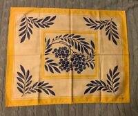 Beauville Place Mat French Country Yellow And Blue Olives Branches 100% Cotton