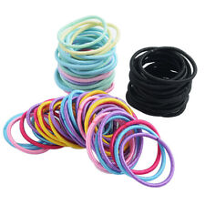 100x Girls Elastic Hair Ties Hair Band Ropes Ring Ponytail Holder Accessories 6