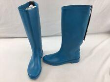 Stuart Weitzman Griffin Oceanic Rubber Knee High Rainboots Size 9M  H2105/