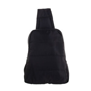 GAP Quilted Backpack Black Lightly Padded Adjustable Single Strap Zip Closure