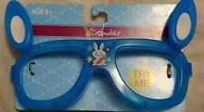 Cottondale Blue Easter Bunny Ears Flashing Glasses Frames with Rabbit Image