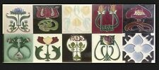 10 x singolo Art Nouveau CAMINO TILE maiolica cucina tubelined Splashback