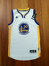 NEW Authentic Home Golden State Warriors Jersey Stephen Curry NBA USA White BNWT