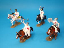 DSG ARGENTINA * TEMPLAR KNIGHTS CRUSADERS MOUNTED (RED TUNICS) * TOY SOLDIERS