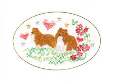 Shetland Sheepdog (Sheltie) Birthday Card Embroidered by Dogmania