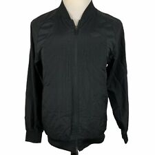 Jordan Full Zip Track Jacket Men's Small Black Vented Windbreaker Bomber