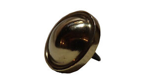 """Jenny Lind Buttons: (1"""" diameter) Solid Brass Head and (3/4"""" long) Steel Shank"""
