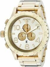 Nixon 51-30 Chrono Gold Dial Stainless Steel Quartz Mens Watch A083-1219