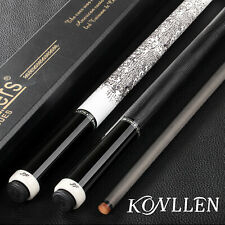 KONLLEN Real Inlay Pool Cue Stick Carbon Fiber Low Deflection Technology Shaft