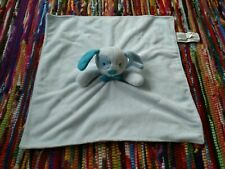 Honey Bunny Puppy Dog Lovey Baby Security Blanket Blue Bow Tie White