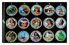 15 Moana Silver Flat Bottle Cap Necklaces Set 2